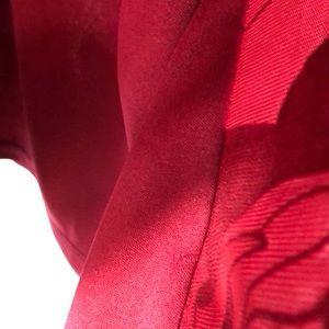 C Oliver Tops - C.Olvier Burgundy Sheer Blouse Bell Sleeves  1X